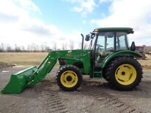 2010 John Deere 5083e Tractor Cab heat air 4wd Loader Powerreverser 442hrs