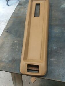 1967 1968 Mercury Cougar Xr7 Console Pad Buckskin Saddle
