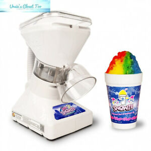 Little Snowie 2 Ice Shaver Premium Shaved Machine And Snow Cone With Syrup