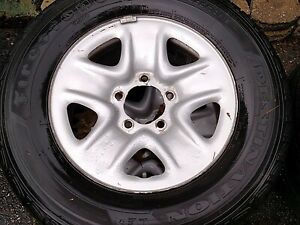 Toyota Oem 18 Wheels With Slightly Used Tires Firestone Performer 255 70 18