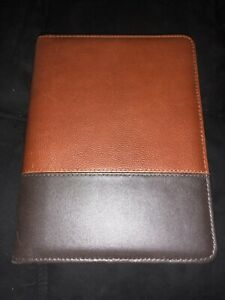 Classic Rings Brown Logan Leather Franklin Covey Planner binder Dividers