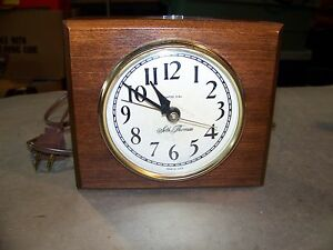 Antique Seth Thomas Wedge Wood Alarm Clock Works