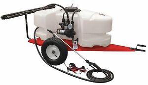 Fimco Trailer Sprayer 25 Gal Tank Capacity 2 1 Gpm Flow Rate 60 Psi