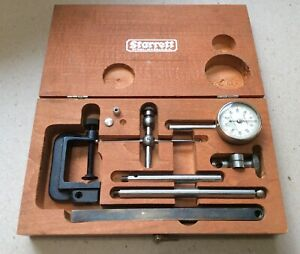 Complete And Nice Starrett No 196 Dial Test Indicator With Box