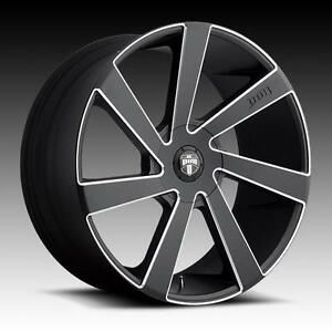 24 Dub Wheels Directa Black Rims 6x135 Navigator Expedition Ford F150 22