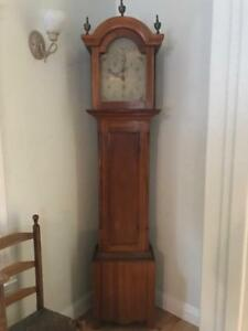 Early American Riley Whiting Wooden Works Grandfather Clock