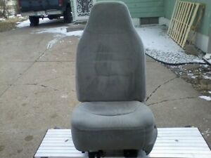 Ford Truck Drivers Side Bucket Seat Gray With Muti color Thead 1992 1996