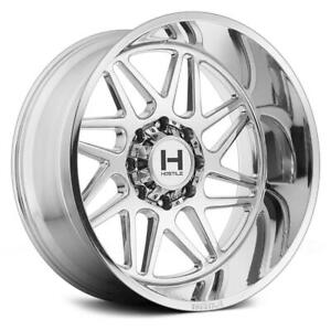 20 Inch 20x10 Hostile H108 Sprocket Chrome Armor Wheel Rim 8x180 19