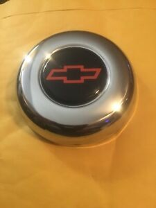 Grant 5640 Gm Licensed Horn Button With Chevrolet Bowtie Emblem In Red Black