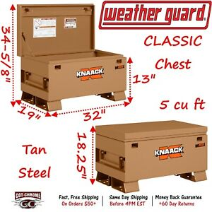2032 Weather Guard Knaack Smooth Steel Single Lid Tan Classic Chest Tool Box