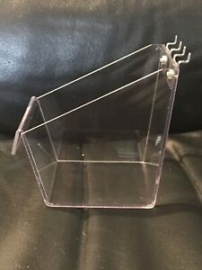 Clear Plastic Peg Board Tray Holder Pegboard Not Included Fast Shipping
