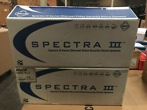 New 2 X Pelco Spectra Lll Indoor Camera Systems Sb53cbw Clear Housing Mounts