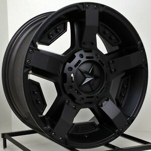 17 Inch Black Wheels Rims Dodge Ram 1500 Truck 5x5 5 Xd Series Rockstar 2 New