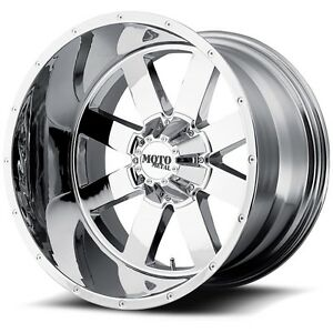 20 Chrome Wheels Rims Lifted Ford F250 Truck Superduty Moto Metal Mo962 20x12