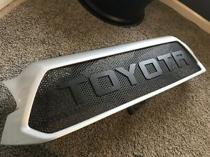 2012 2015 Toyota Tacoma Raptor Style Mesh Grille Oem Grille Silver Steak Mica