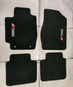Fit 02 06 Toyota Camry Floor Mats Carpet 4 Pcs Black New W Emblem