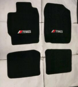 Fit 05 10 Scion Tc 2dr Floor Mats Carpet Nylon Black 4 Pcs New W emblem