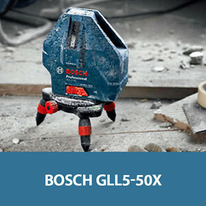 Bosch Gll 5 50 X Professional 5line Laser Level Measure Self Leveling Ip54 Ups