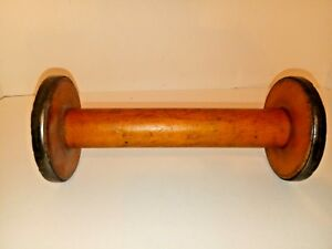 Antique Wood Industrial Textile Manufacturing Spool Bobbin Made In England