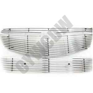 Fit For Chevrolet Cruze 2009 2014 Silver Front Bumper Vent Mesh Grill Grille