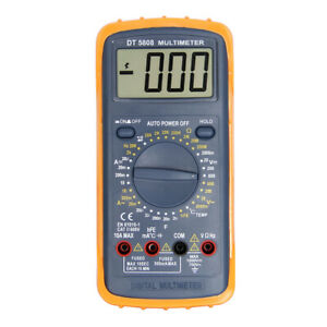 Handheld Lcd Digital Multimeter Using For Home And Car Black Red
