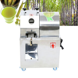 Automatic Electric Stainless Steel Juicer Sugar Cane Press Juicer Juice Machine