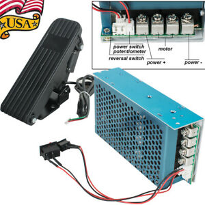 Dc10 50v 100a 5000w 15khz Pwm Motor Speed Controller Cw Ccw Soft Start Pedal