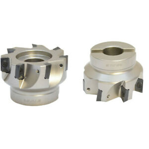 Indexable Face Mill Cutter 90 Degree 3 X 1 Inch 7 Flute Use Apmt Apkt Cnc Insert