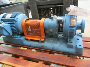Gould Pump With Base And Motor Model 3196 1x1 1 2x 6 271040b used
