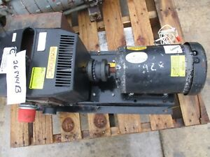Gas Oiless Rotary Vane Pump With Motor Frame 3089 v110 26844b used