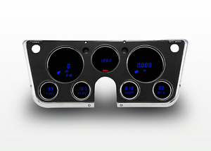 67 72 Chevy Truck Instrument Cluster Blue Led Digital Gauges By Intellitronix Us