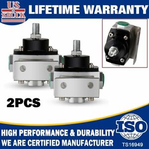 2x 2015 Fuel Pressure Regulator 4 5 9psi Return Carb Style 6an An6 Fittings Gas