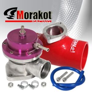 New Turbo Bov Blow Off Valve Type S Purple 2 5 52mm Red Flange Coupler Adapter