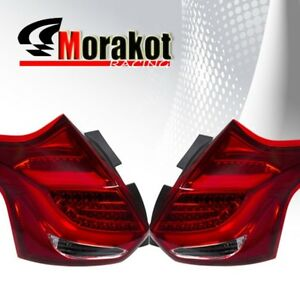 Ford Focus St 2012 2014 5dr Hatchback Led Replacement Tail Light Chrome Red Lens