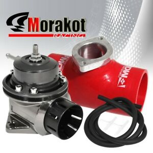 New 40mm Motor Car Black Type Fv Bov Blow Off Valve 3 Inch Coupler Adapter Red