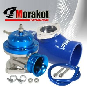 Aluminum Blue Type Rs Bov Blow Off Valve 2 5 Silicone Coupler Adapter Flange
