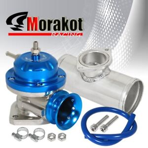 New Universal Blue Type Rs Bov Blow Off Valve 2 5 Adapter Aluminum Flange Kits