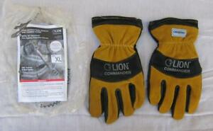 Lion Commander Structural Fire Fighting Protective Gloves Size Xl Lpg927bg New