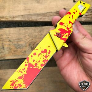 8quot; Mack Schmidt Tactical Tanto Blade Spring OPEN Assisted Pocket Knife ZOMBIE $14.95