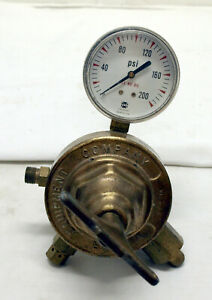 Victor Vts 450 D Brass Regulator Usg 0 200 Psi Gauge