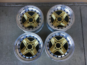 Revolution 13 3 Piece Wheels Rims Modular Rare Race Wheels Fiat X 1 9 124 850