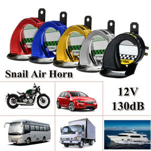 12v 150db Dc Loud Motorcycle Truck Car Snail Air Horn Siren Waterproof 5 Colors