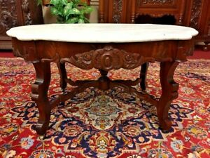 Victorian Marble Top Coffee Table Delivery Available