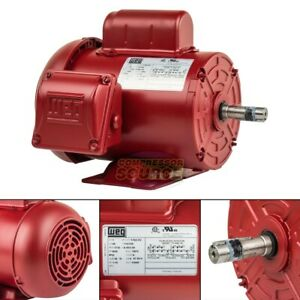 1 3 Hp Farm Duty Electric Motor 56 Frame 1735 Rpm Single Phase Tefc Weg New