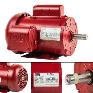 1 Hp Electric Motor 145t Frame 1745 Rpm Single Phase Farm Duty 7 8 Shaft Weg