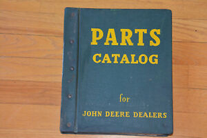 John Deere Shredder And Hay Rake Parts Catalog Binder Original