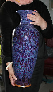 An Unique 51 3 Cm Chinese Heritage Reproduction Sung Dynasty Jun Yao Vase