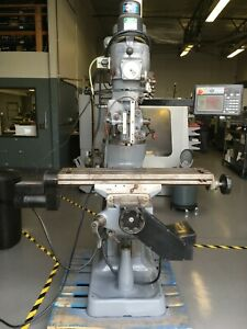 Bridgeport Mill With Prototrak Cnc Variable Speed Pneumatic Draw Bar Head