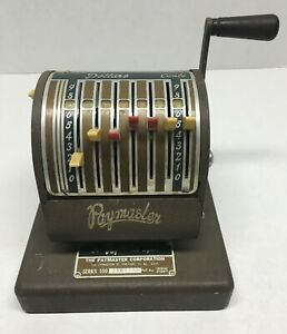 Vintage Paymaster Check Writer Model Series 550 Art Deco Look Antique Works
