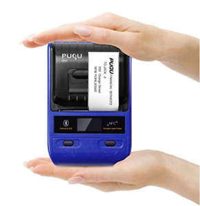 Portable Bluetooth Thermal Label Printer With Rechargeable Battery Super Light